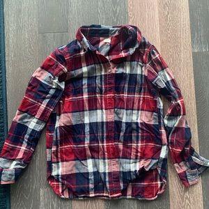 Uniqlo plaid shirt M